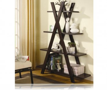 Modern Tiered X Shape Bookshelf