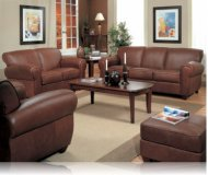Monterey 2 Pc. Leather Sofa + Love Seat