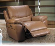 Lucerne Motorized Recliner in Taupe Leather