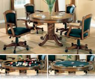 Oak 5 Pc Dining Set, Bumper and Poker