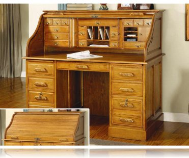 Oak Deluxe - Roll Top Desk