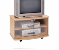 Oak  tv stand glass