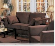 Park Place Brown Velvet Love Seat
