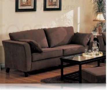 Park Place Brown Velvet Sofa