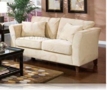 Park Place Cream Velvet Love Seat