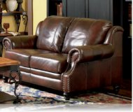 Princeton Leather Love Seat