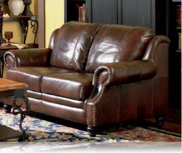 Princeton Leather Love Seat