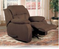 Bradley Recliner Rocker in Cocoa
