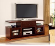 Rich  black corner tv stand