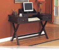 Rich Tobacco Finish Drop Down Home Office Computer Desk