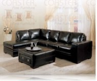 Roma Leather Left Arm Chaise Sectional