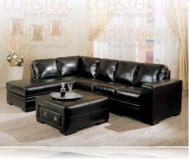 Roma Leather Right Arm Chaise Sectional