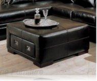 Roma Leather Storage Ottoman
