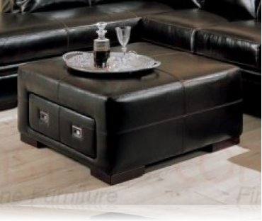 Sensational Roma Leather Storage Ottoman Leather Upholstery Coaster 500622 Ibusinesslaw Wood Chair Design Ideas Ibusinesslaworg