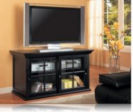 Salisbury  black glass tv stand