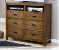 Samantha  cherry wood tv stand