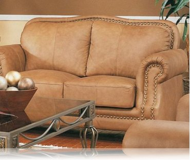 Savannah Leather Love Seat