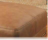 Savannah Leather Ottoman