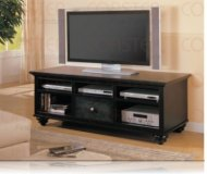 Torridge  black corner tv stand