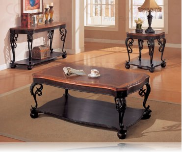 Two Tone Occasional Packages 3 Tables Set