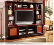 Two  library wall unit