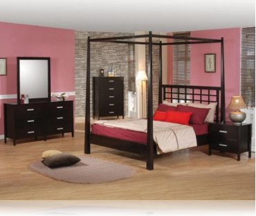 Ventura 5 Pc. Queen Canopy Bedroom Set