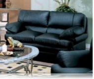 Verona Leather Love Seat