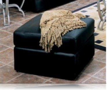 Verona Leather Ottoman