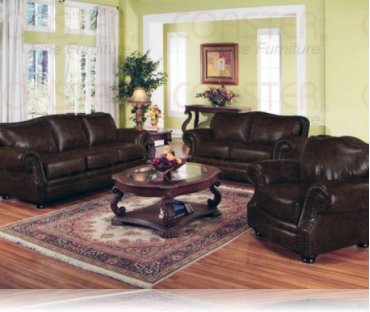 Wilson Leather Sofa + Love Seat