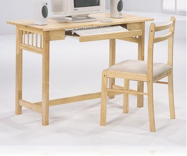Wood Computer Desk with Chair