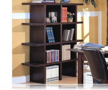 Wood Grain Finish Home Office Bookcase