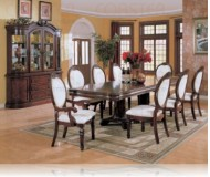 Wynn 7 Pc. Cherry Dining Set + China