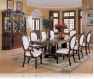 Wynn 9 Pc. Cherry Dining Set + China