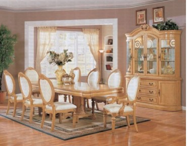 Wynn Antique 7 Pc. White Dining Set + China