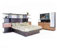 Opus Bedroom Queen Pier w/Platform + Media Dresser