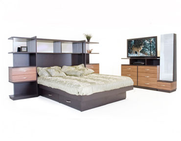 opus bedroom queen pier wplatform media dresser - Pier Wall Bedroom Furniture