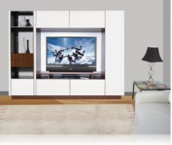Bingham  wood corner tv stands