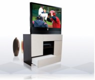 Castellano  black glass tv stand