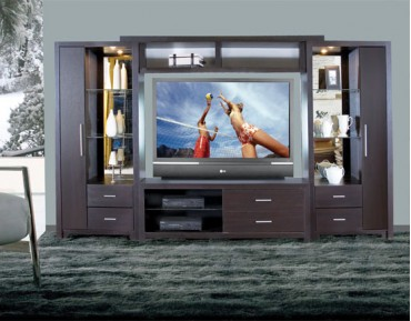 Crystal Entertainment Center Wall Units Icon Furniture Collection