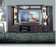 Crystal  wood plasma tv stands