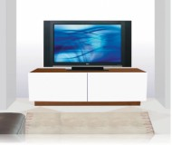 Dylan  black glass tv stand