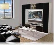 Keegan  wood corner tv stand