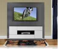 Portofino  black glass tv stand