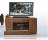 Ravena  black glass tv stand
