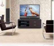 Savoy  black glass tv stand