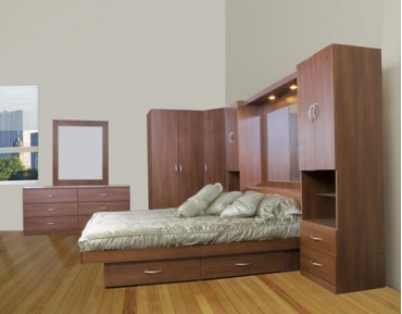 Studio Bedroom Pier Wall Queen Queen Bed IcOn Furniture Collection 21082 3856