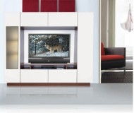 William  60 white tv stand
