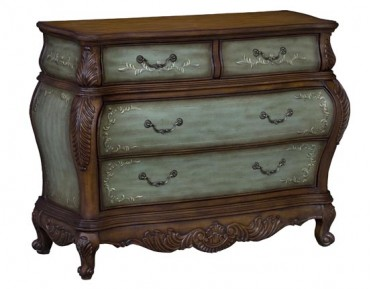 English Garden Four Drawer Bombe Chest