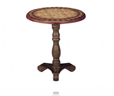 English Garden Pedestal Accent Table