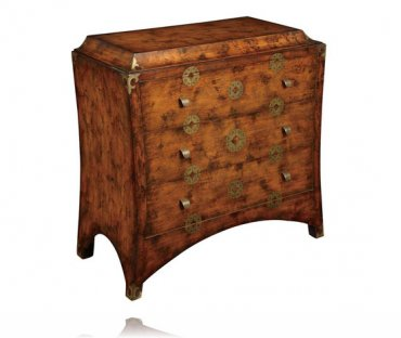 Far East Three Drawer Accent Chest